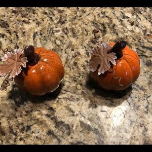 Ceramic pumpkins- cute addition to fall decorating